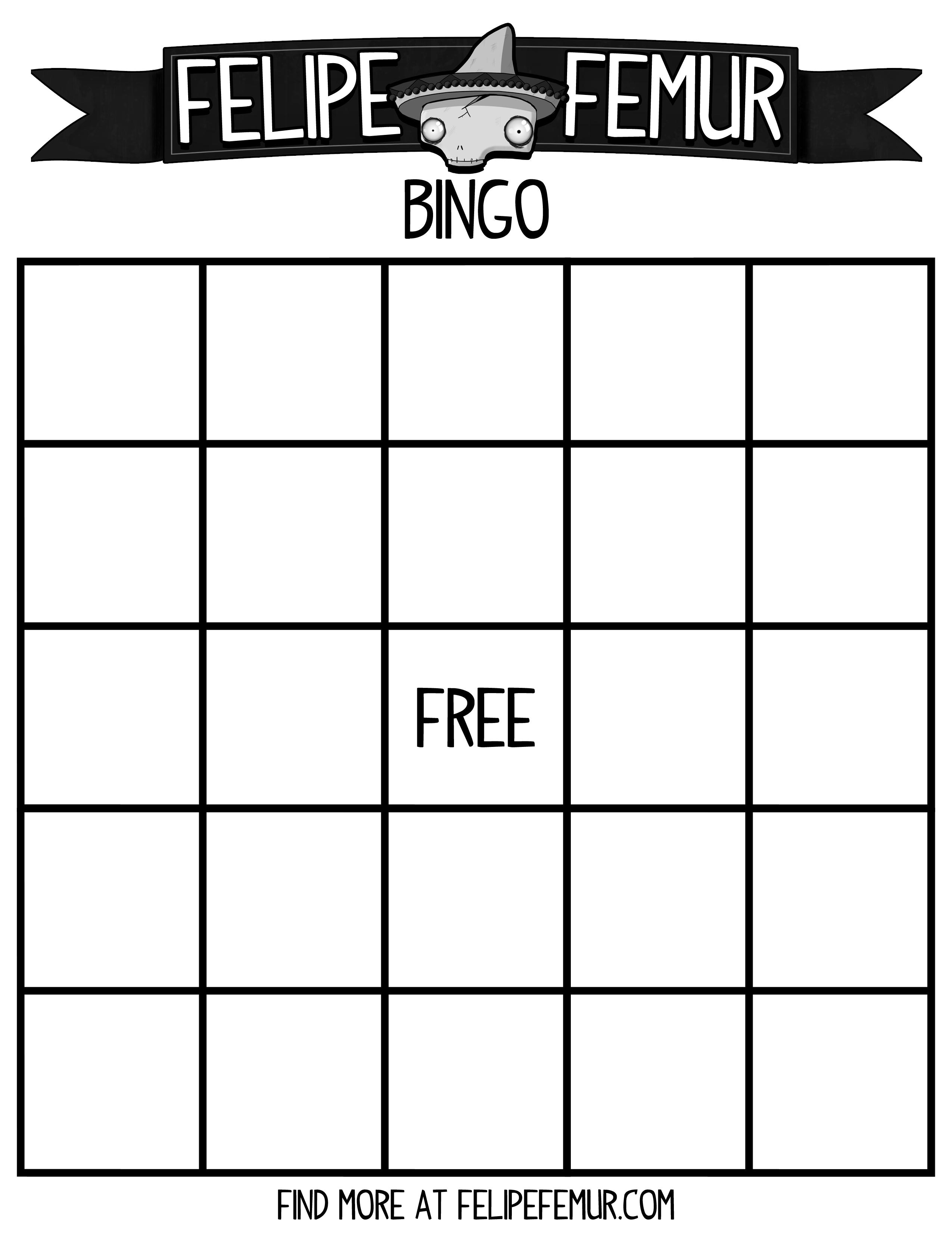 Free Bingo Cards Felipe Femur