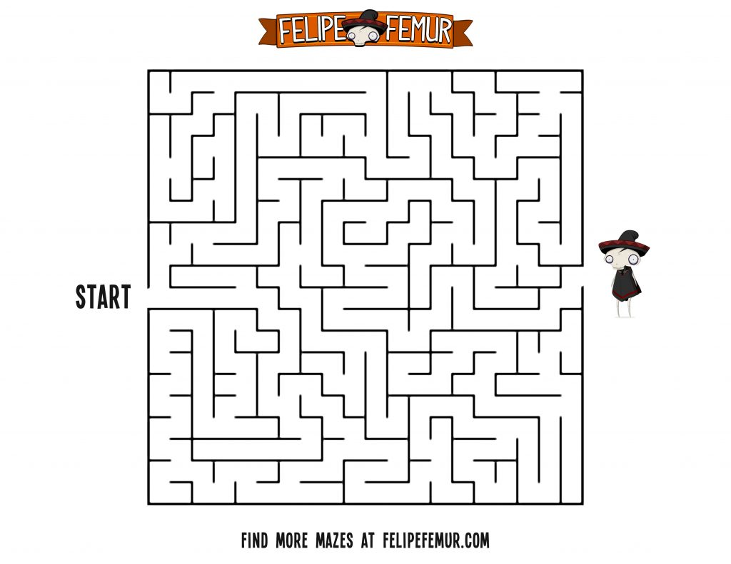 Free Maze Printout For Kids Square Maze 1 Felipe Femur