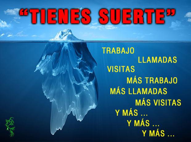 Iceberg de las ventas esfuerzo comercial Felipe García Rey En las ventas déjate de criticar el éxito y valora el esfuerzo