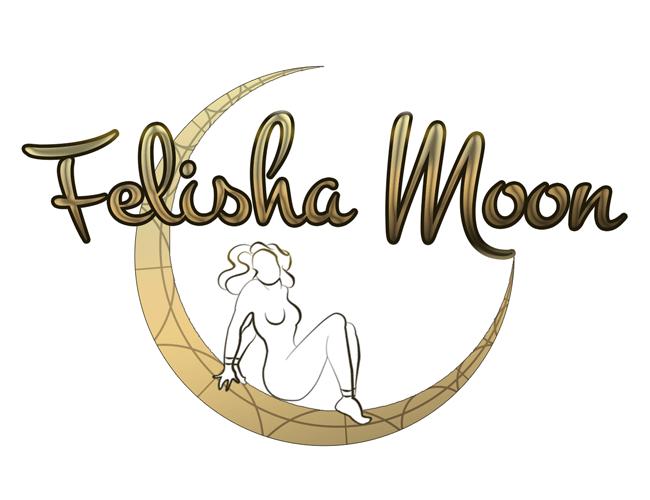 Felisha Moon Logo - White