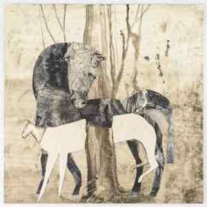 55 horses and tree