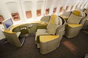 Asiana B747-400 - Seat 1K