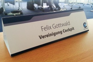 Name tag at a Eurocontrol SPIN SG meeting