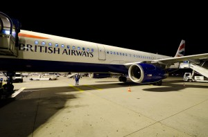 British Airways Airbus A321 on boarding for the flight form Frankfurt to London Heathrow