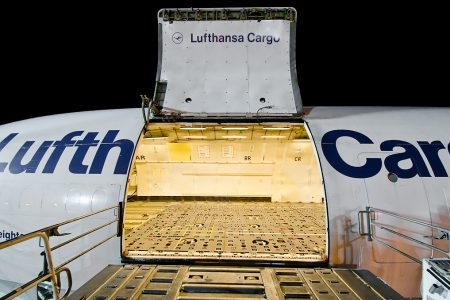 Lufthansa Cargo MD-11 cargo door
