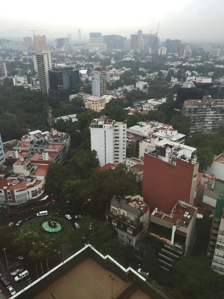 View from my hotel room in Mexico City.