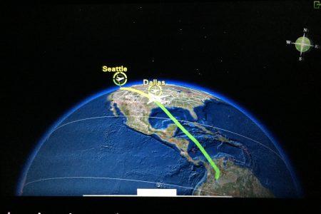 American Airlines IFE A319 Bogota-Dallas