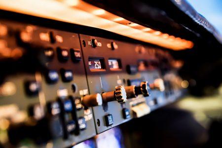 Lufthansa Cargo MD-11 freighter cockpit