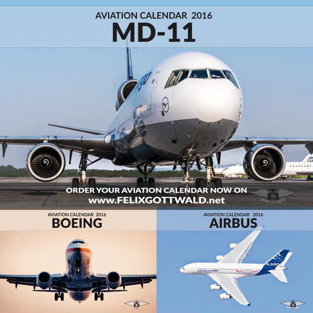 Airbus, Boeing and MD-11 Aviation Calendars 2016