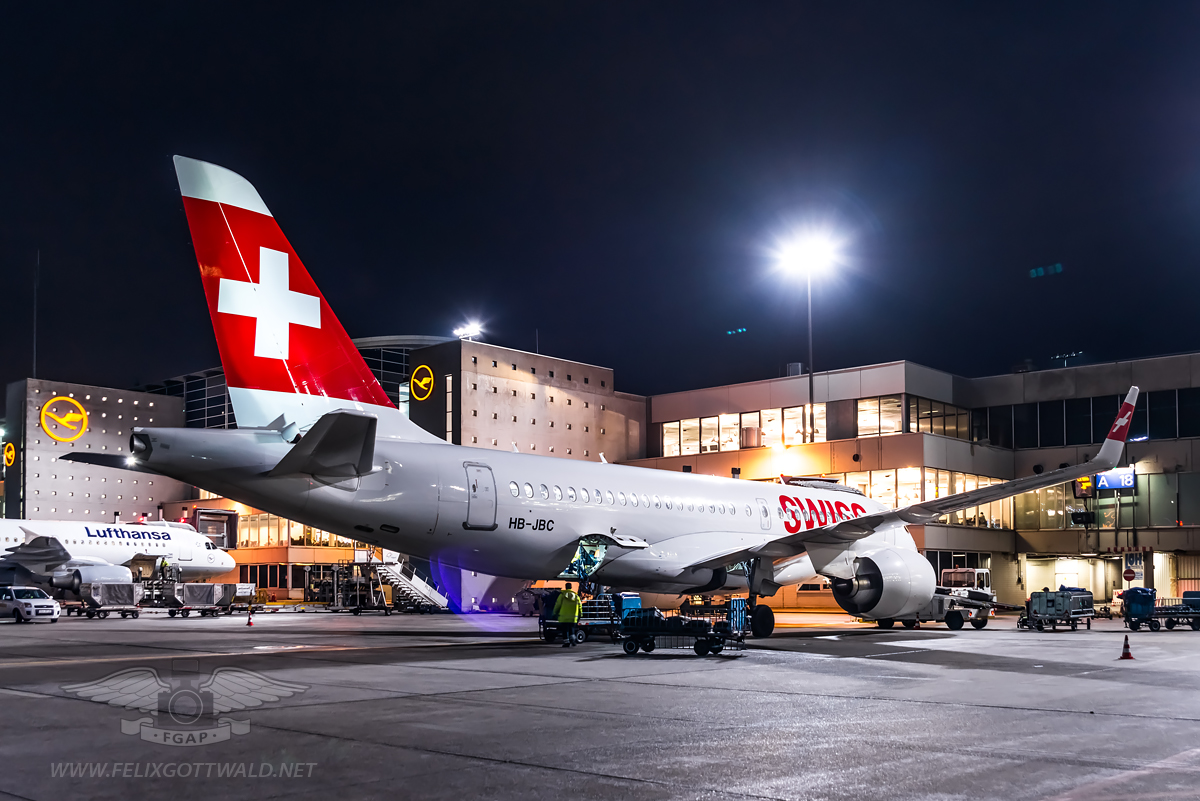 Swiss CS100 HB-JBC Frankfurt - 2017-01-03 06