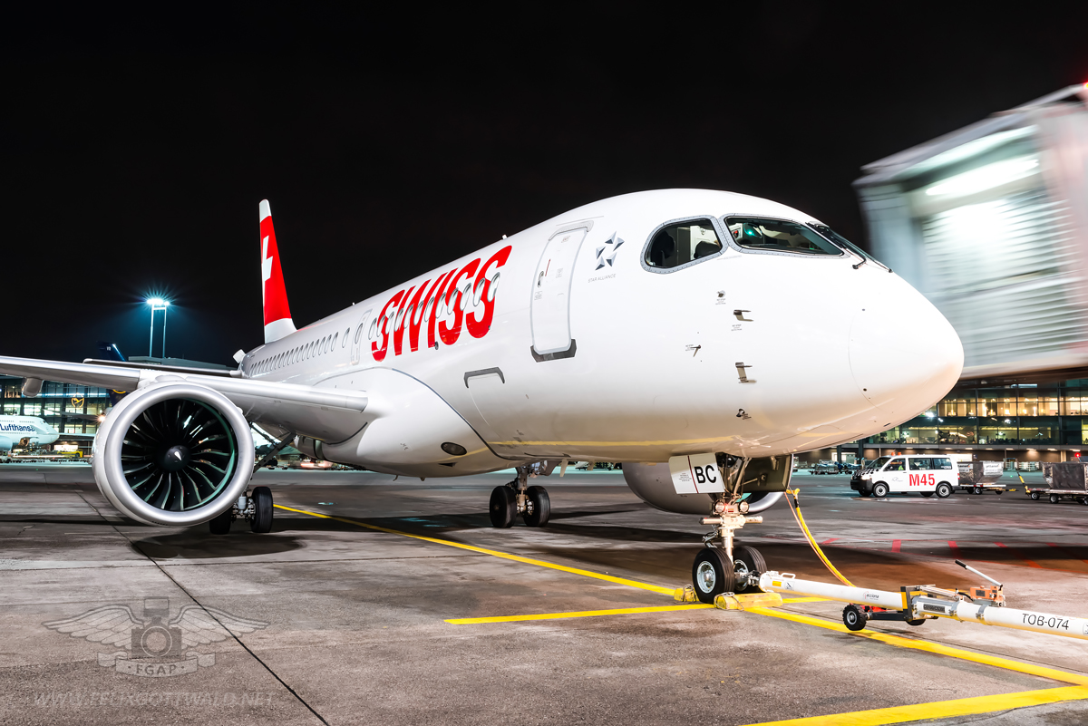 Swiss CS100 HB-JBC Frankfurt - 2017-01-03 10