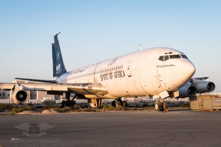One of the most iconic residents! Blue Nile - Spirit of Africa Boeing 707-336C 5Y-BRV.