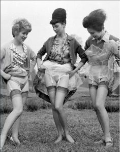 I say- they seem to be showing their knickers off!