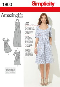 Simplicity's 'amazing fit' range offering pre-cut modified cup sizes and fitting options.