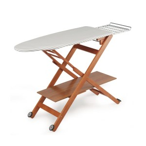 A well padded and sturdy ironing board