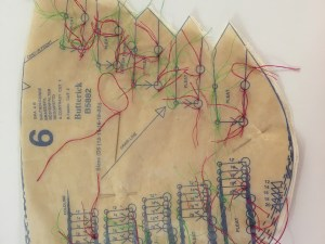 Red thread for large circles