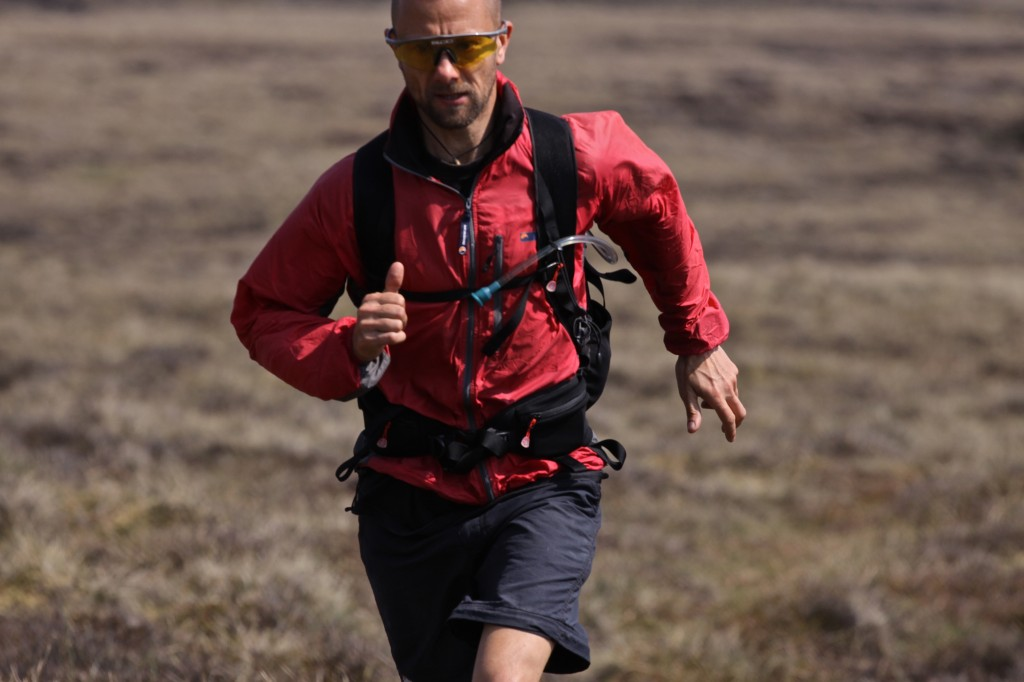 running in the Montane Litespeed jacket