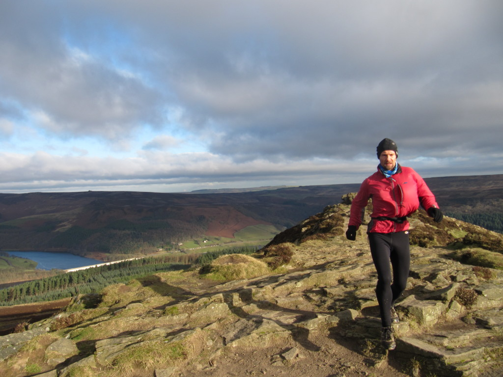 Blowy day on Win Hill