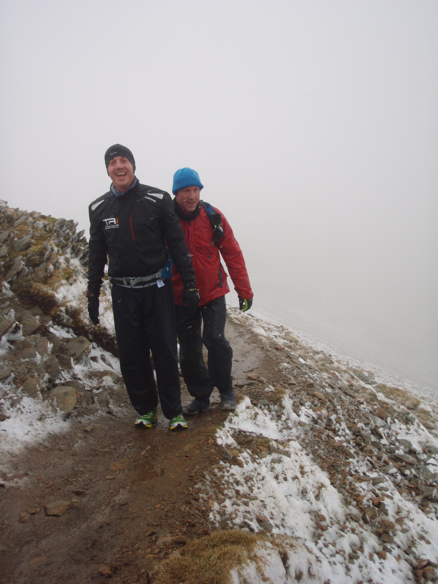 Tough conditions on Helvellyn