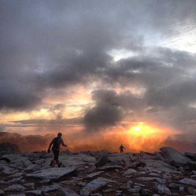 sunrise on the Glyders