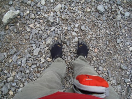 Fivefingers Treksport in montagna. Fivefingers on the mountains review