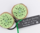 Kiwifruit hairties from Zippitydoodah
