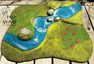 Feltnomad Meadow Creek Felted Playmat 2