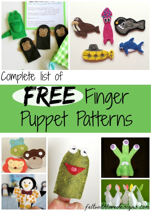 free finger puppet patterns