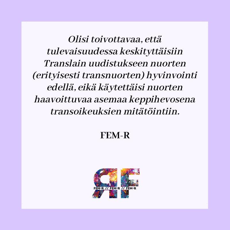 Keskustelu transoikeuksista – harhautustaktiikat