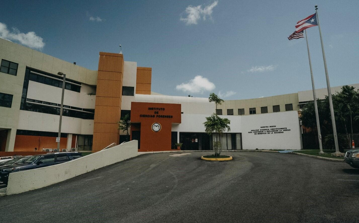 Front view of the Puerto Rico Forensic Science Building