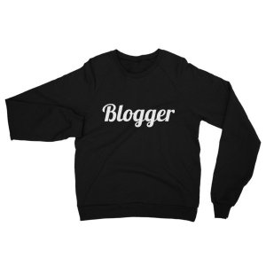 Blogger Fleece Raglan Sweatshirt mockup 47acf568