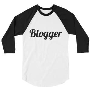 3/4 Blogger sleeve raglan shirt mockup 87355fd1