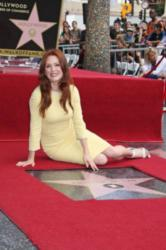 Julianne Moore on the Walk of Fame
