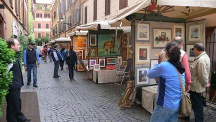 Cento Pittori a Via Margutta, la galleria all'aria aperta nel cuore di Roma