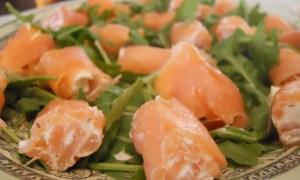 involtini di salmone e noci
