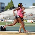 Alysia Montano all'ottavo mese di gravidanza corre gli 800 metri