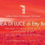 Mostre Roma: Etty Bruni e la sua Linea di Luce in mostra a Galleria Vittoria