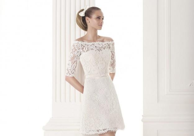 496988235a91 Abiti da sposa corti 2015  i modelli più belli - Female World - Il ...