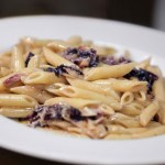 Pasta con radicchio e gorgonzola
