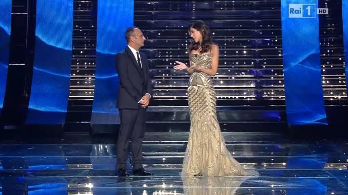 Sanremo 2015: Rocio Munoz Morales e i suoi look nella seconda serata