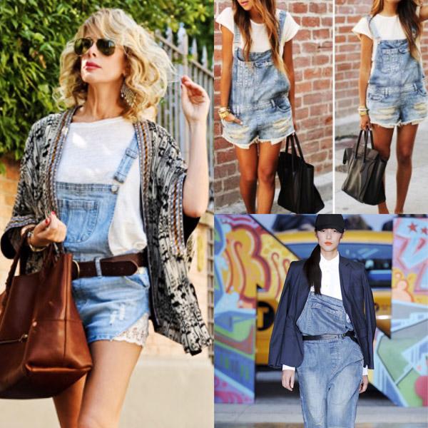 Tendenza moda estate 2015: salopette, l'estate è in streetstyle