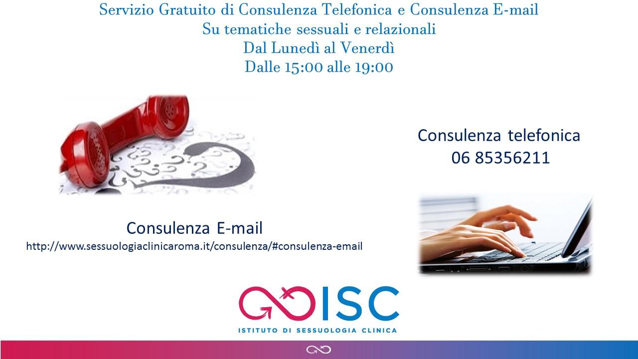 Consulenza telefonica e via e-mail gratuita: intervista allo staff dell'Istituto di Sessuologia clinica