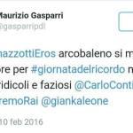 Sanremo 2016: Gasparri, polemica con Ramazzotti