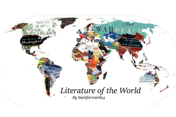 Letteratura del mondo, la mappa dei libri simbolo di ogni paese