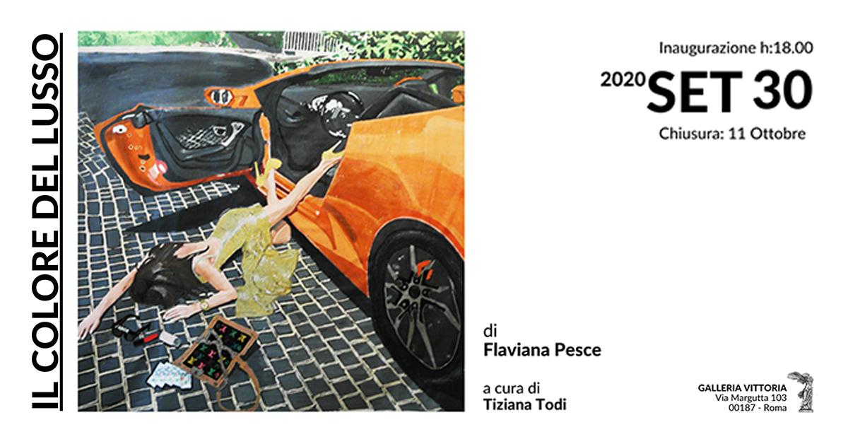 I colori del lusso di Flaviana Pesce in mostra a Galleria Vittoria