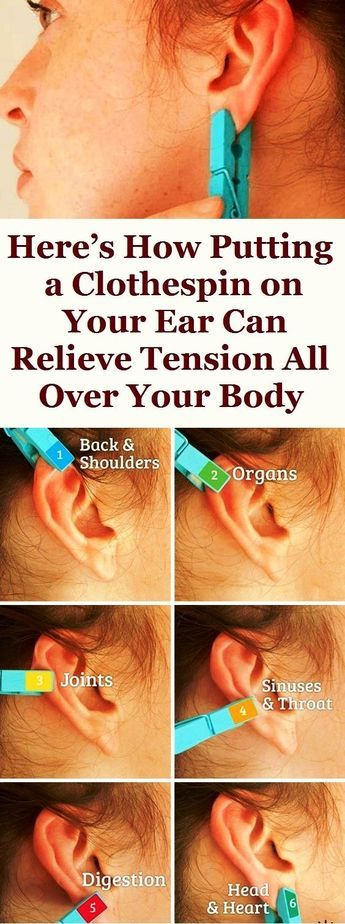 Here's How Putting a Clothespin on Your Ear Can Relieve Tension All Over Your Body