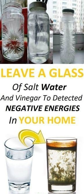Negative Energy: Leave A Glass Of Water With Salt In Your Home, You Will See Incredible Changes In 24 Hours!