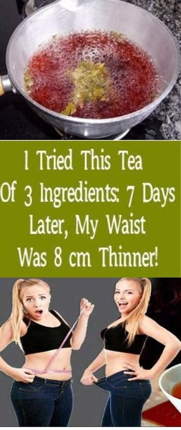 I Tried This 3 Ingredient Tea: 7 Days Later, My Waist Was 8 CM Thinner!