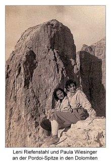 Leni Riefenstahl und Paula Wiesinger
