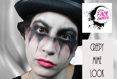 creepy mime look